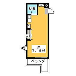 ドーム四ツ谷[2階]の間取り