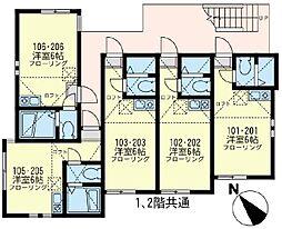 サンヴィレッジ 新川崎[1階]の間取り