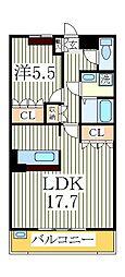 ティープラントII[2階]の間取り