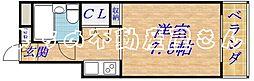 プレジデント千林[4階]の間取り
