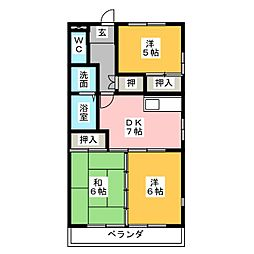 武田ハイツ[1階]の間取り