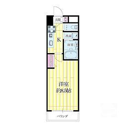 プルミエールメゾン江坂[3階]の間取り