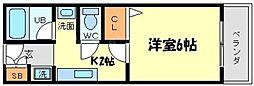 エレフコートYAMATE[1階]の間取り