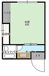 TKハイツ[2-D号室]の間取り