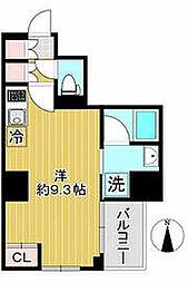 AZEST川崎大師2 6階ワンルームの間取り
