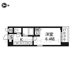 エイペックス京都新京極Ⅰ404[4階]の間取り