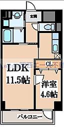 瓦屋町3丁目マンション[2階]の間取り