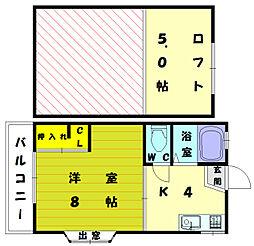 スペースクリエイト和白東[2階]の間取り