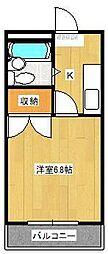 クレセントモア[4階]の間取り