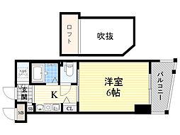 エステムコート新大阪3ステーションプラザ 3階1Kの間取り