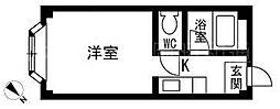 福岡県福岡市博多区昭南町3の賃貸アパートの間取り