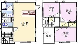 [一戸建] 兵庫県姫路市花田町勅旨 の賃貸【/】の間取り
