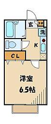 東京都江戸川区南小岩3丁目の賃貸マンションの間取り