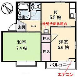 タウニー平良 B棟[1階]の間取り