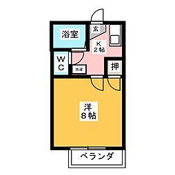 イーストコート大山寺[1階]の間取り