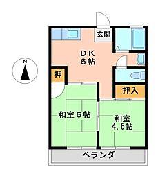 沢の井ビル[3階]の間取り