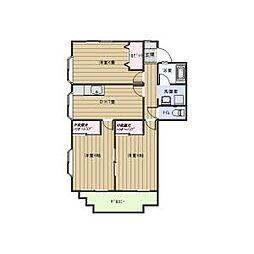 ロイヤルサンコーA棟[2階]の間取り