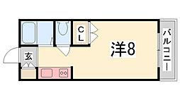 ジュネス船橋[206号室]の間取り