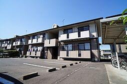 群馬県高崎市矢中町の賃貸アパートの外観