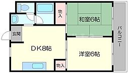 第1あかつきマンション[1階]の間取り