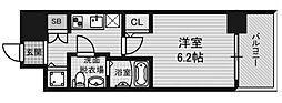 アドバンス西梅田ラシュレ[3階]の間取り