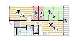 ピュアネスDoi[6C号室]の間取り
