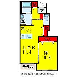 オーパスI[1階]の間取り