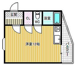 竹弘ビル[5階]の間取り