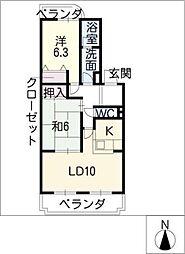 メゾンクレール[3階]の間取り