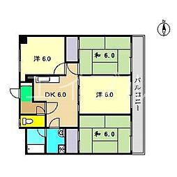 ドルフ高須[3階]の間取り
