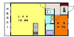 福岡県福岡市東区香椎駅東3丁目の賃貸アパートの間取り