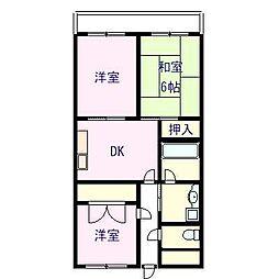 エクセレント岸和田壱番館[2階]の間取り