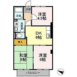 愛知県一宮市伝法寺6丁目の賃貸アパートの間取り