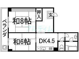 山幸マンション[4階]の間取り
