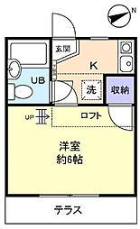 津田沼ニッソー[104号室]の間取り