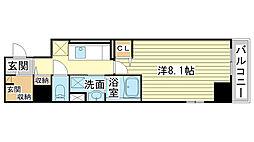 兵庫県姫路市元塩町の賃貸マンションの間取り