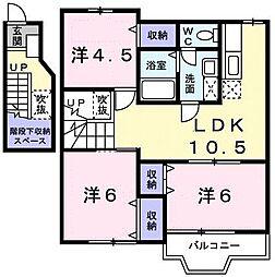 マロンB[2階]の間取り