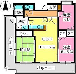 レジデンス渡邊V[3階]の間取り