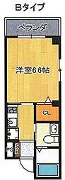 KARAHORI M[8階]の間取り