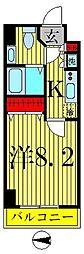 HF錦糸町レジデンス[4階]の間取り