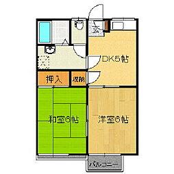 M.K.ハイツ穂高[2階]の間取り