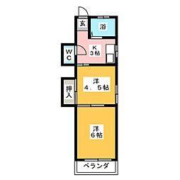 山巳荘[2階]の間取り