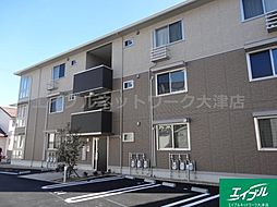 滋賀県大津市あかね町の賃貸アパートの外観