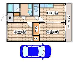 兵庫県明石市大久保町江井島の賃貸マンションの間取り