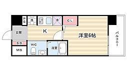 エストーネ京都二条[4階]の間取り