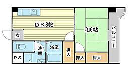 コーポラス神子岡[402号室]の間取り