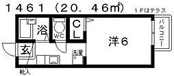 カンパニュラ[102号室号室]の間取り