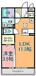 パーク・ド・プランタン B[3階]の間取り