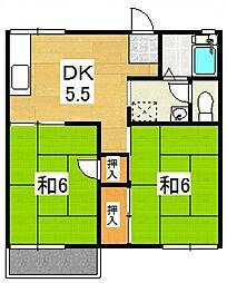 コーポ古沢I[202号室号室]の間取り