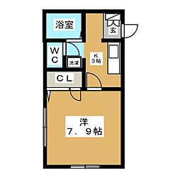 シャーメゾンI[2階]の間取り
